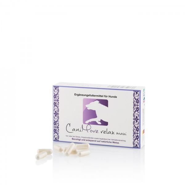 CaniMove relax maxi - Vor oder bei Stress, Angstzuständen sowie begleitend bei Verhaltenstraining. Beruhigt und entspannt auf natürliche Weise.